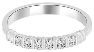 Avi and Co 0.30 cttw Round Brilliant Cut Diamond Bar Channel Set Wedding Band Platinum