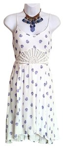 O'Neill short dress White and blue Crochet on Tradesy