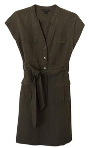 Banana Republic Linen Belted Button Down Dress
