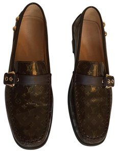 Louis Vuitton Brown and gold Flats