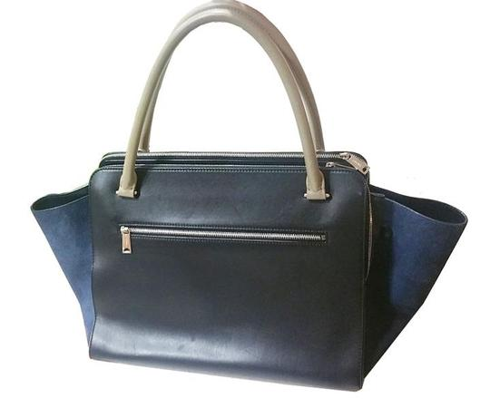 Céline Tote in navy, taupe, blue