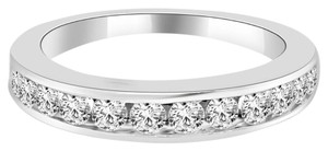 Avi and Co 0.80 cttw Round Brilliant Cut Diamond Channel Set Wedding Band 14K White Gold