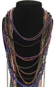 Wet Seal Multi Colored Multi Strand Statement Necklace