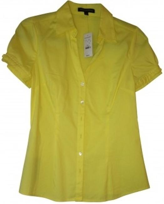 Preload https://item5.tradesy.com/images/express-yellow-short-sleeve-button-up-button-down-top-size-4-s-152924-0-0.jpg?width=400&height=650