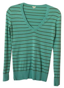 J.Crew Striped V-neck Sweater
