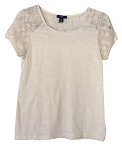 Gap Lace Top Cream, ivory