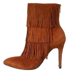 Chinese Laundry Laundry Fringe Tan Suede Ginger Suede Boots