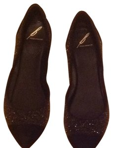 Brian Atwood Black / Gold Flats