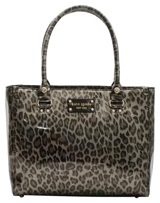 Item - Quinn Wellesley Anthrleopa Silver/Black/Animal Print Patent Leather Tote