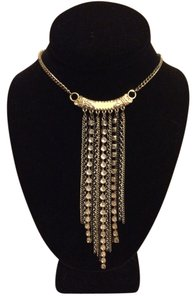 Arden B Cascading Chain & Rhinestone Necklace
