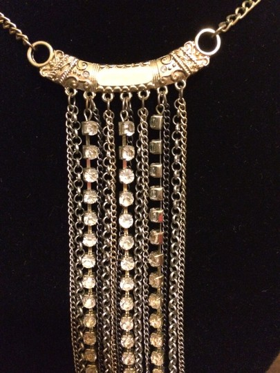 Arden B. Cascading Chain & Rhinestone Necklace