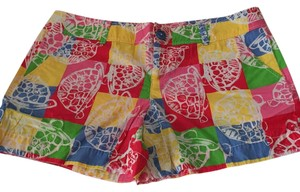 Lilly Pulitzer Mini/Short Shorts Pink, yellow, blue, red, and white
