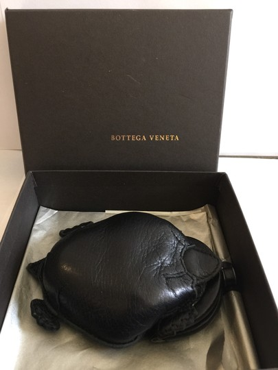 Bottega Veneta Bottega Veneta Animal Turtle Coin Purse Black