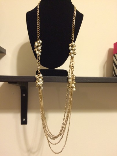 Arden B. Long Chain & Pearl Cluster Necklace