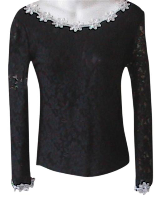 Preload https://item3.tradesy.com/images/wet-person-collection-top-black-and-white-lace-1529337-0-0.jpg?width=400&height=650