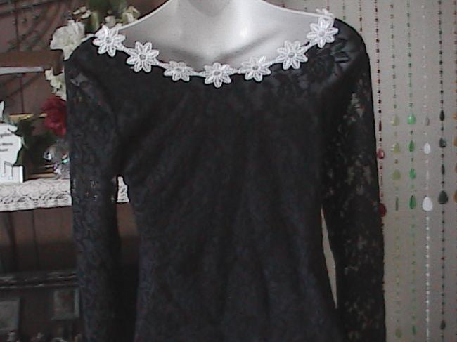 Wet Person Collection Top Black & White Lace