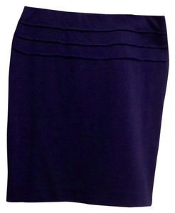 Max Studio Skirt Dark Blue