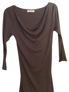 Michael Stars Cowl Neck T Shirt Dark grey