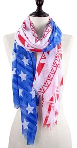 Other American Flag Patriotic Multicolor Scarf