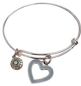 Other Brand new silver slide adjustable bracelet..One authentic Coach heart charm
