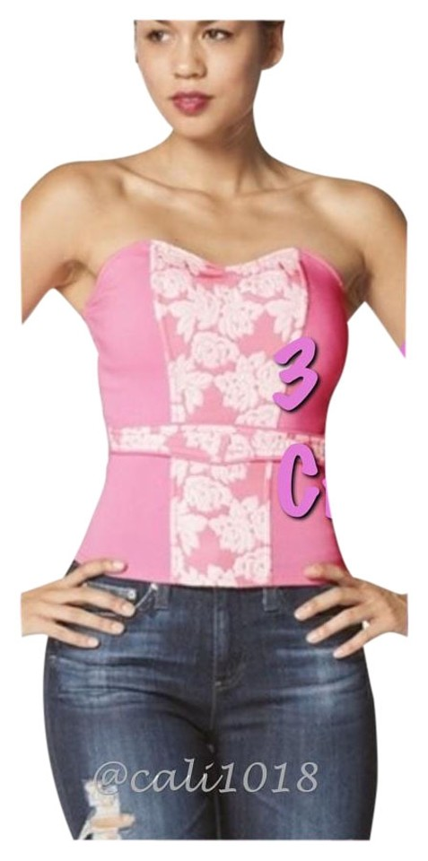f46bc39b3b9 3 Colors Avail New Strapless Corset Zip Up Back Avail Pink Yellow Green Top  79% off retail