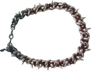 Zara Zara Black/Red/Silver Choker Necklace