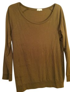 J.Crew Tissue Long Sleeve T Shirt Olive green