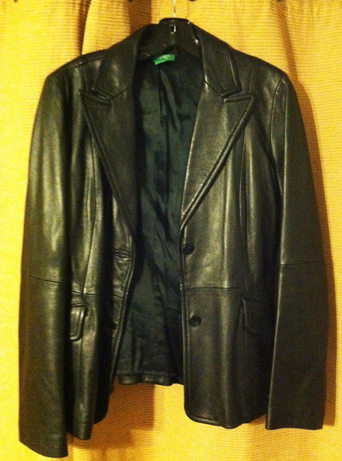 United Colors of Benetton Leather Leather Jacket