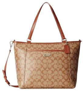 Coach Nwt New With Tags Tote in Khaki / Saddle