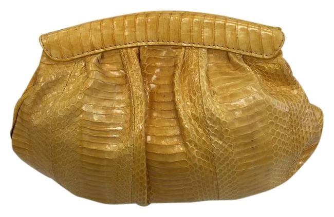 Item - 3510 Yellow Snake Skin Clutch