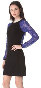 Diane von Furstenberg short dress Black / Blue on Tradesy