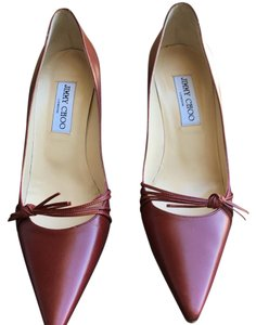 Jimmy Choo Maroon (dark red) Pumps