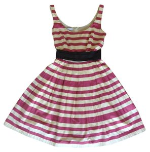 Corey Lynn Calter short dress red and white Anthropologie Striped Wedding Sash Full Skirt on Tradesy