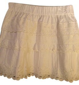 J.Crew Eyelit Summer White Mini Skirt True white