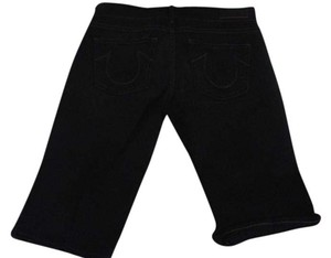 True Religion Bermuda Shorts Black with white stitch
