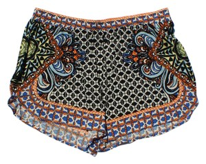 Flying Tomato Tribal Boho Festival Mini/Short Shorts black, white
