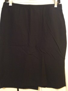 Prada Italy Pencil Made In Italy High Fashion Milano Skirt True black
