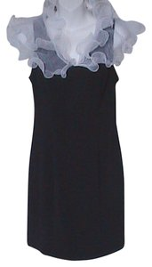 Hampton Nites & Petites Mini Ruffle Collar Dress