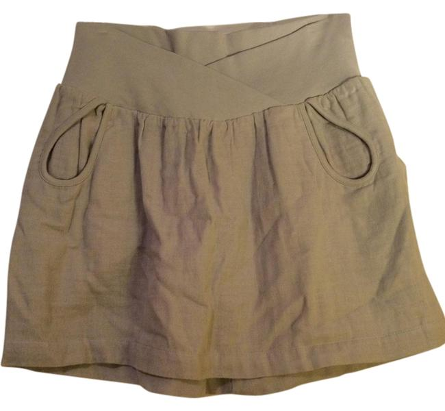 BCBGeneration Linen Summer Mini Skirt Light grey