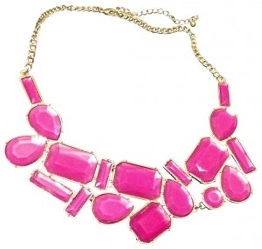 Preload https://item5.tradesy.com/images/h-and-m-pink-and-gold-jewel-necklace-152954-0-0.jpg?width=440&height=440