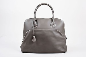 Hermès Vert De Gris Barenia Leather Relax Bolide 40cm Tote in Gray