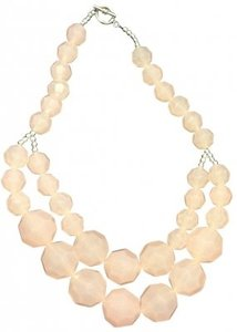 H&M light pink beaded necklace
