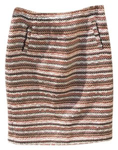 Halogen Skirt Orange, Black, Tan, White Tweed