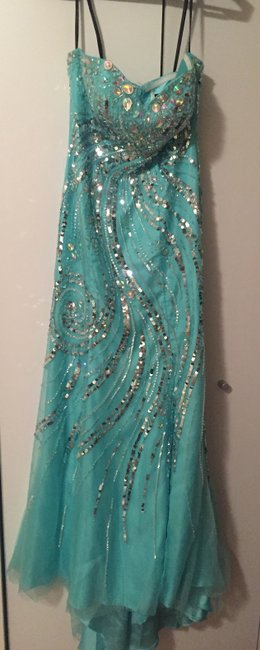 Alyce Prom Tulle Strapless Sweetheart Beaded Crystals 6286 Dress