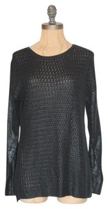 Anthropologie Wax Foil Coated Sweater