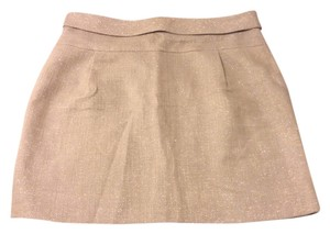 J.Crew Linen Tweed Mica Mini Mini Skirt