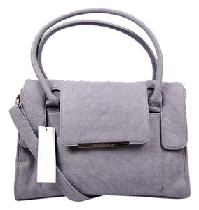BCBGeneration Modern Leather Satchel in Purple