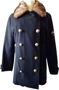 Authier-Vampire Ski Vintage Wool Detachable Mink Silver Button Swiss Made Coat