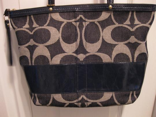 Coach Legacy Denim Tote in Navy