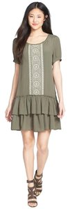 Anthropologie short dress GREEN Anthro Willow Embroidered on Tradesy